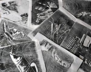 Monotype - traces en noir et blanc - Stage Bien-être et Créativité - Saint Leu La Forêt