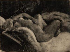 Monotype Le Sommeil - Edgar Degas