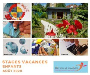 Stages vacances enfants - Ateliers créatifs - Bien-être et Créativité - Saint Leu La Forêt